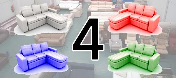 4 colores para una cheslong