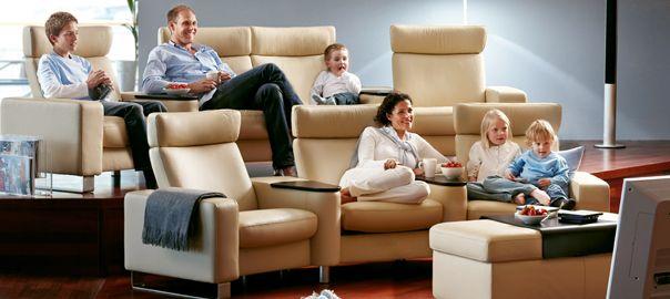 Asiento de sillones relax para home cinema