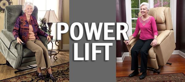 Sillones power lift levantapersonas