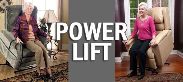 Sillones power lift levantapersonas