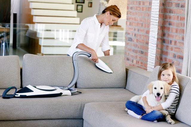 Mantener la tapicería limpia de los sofás