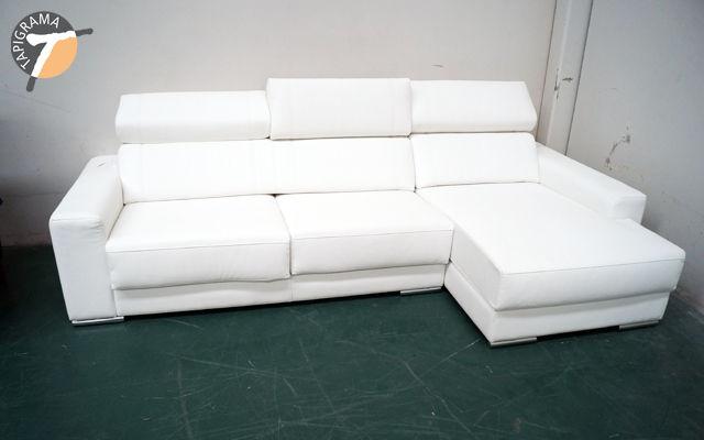 Cheslong de color blanco de Tapigrama